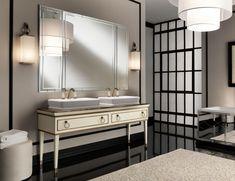 Lutetia L9 High End Italian Bathroom Vanity in Cream Lacquer