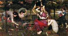 Flora & the Zephyrs by John William Waterhouse (1898)