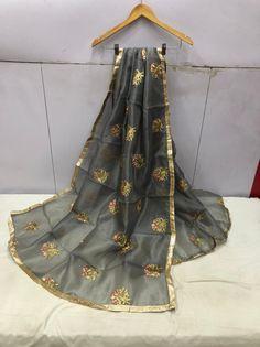 Price:- Rs 610 + SHIP FREE MULTI COLOR SILK DUPATTA FUSION GF 2021 Dupatta Fabric details Pure organza with heavy embroidery work dupatta border lace patti Cut 2.50 Mtr