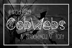 Cobwebs a Spooktacular Font Kitaleigh Other Fonts Halloween Fonts, Halloween Clipart, Cool Fonts, New Fonts, Pretty Fonts, Script Fonts, Type Fonts, Awesome Fonts, Scary Font