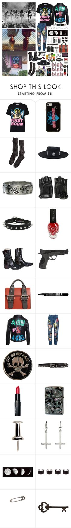 """""""They say I'm crazy, but you can understand me"""" by nothingisnormal ❤ liked on Polyvore featuring Ashley Williams, Wildflower, Polder, NARS Cosmetics, Salvatore Ferragamo, Hot Topic, Mexicana, Smith & Wesson, Vivienne Westwood and Bourjois"""