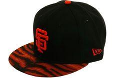 New Era BCS San Francisco Giants Bengal Strapback Hat - Black, Orange