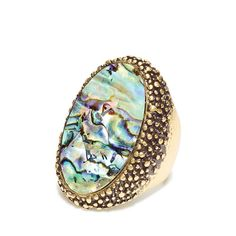 A large statement ring in burnished goldtone metal with real abalone. Regularly $18.00, buy Avon Jewelry online at http://eseagren.avonrepresentative.com