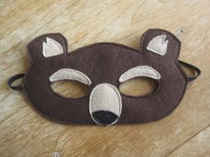 Felt Bear mask by littlebitdesignshop on Etsy, $18.00