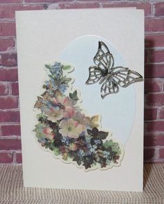 Handmade  Greeting , Birthday , Gift , Card  , Flowers, Butterfly