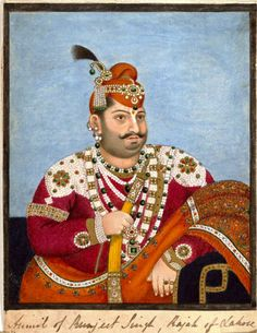 1825 Portrait of a Punjab Rajah