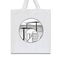Nantes Buildings Cranes Tote Bag