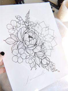 Design Tattoo, Tattoo Designs, Bubble, Drawing, Fleur Design, Etsy, Floral, Tatoos, Illustration