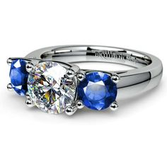 Beautiful blue sapphires and a single sparkling diamond come together in a single ring, the ideal gift of love for your one and only: Discover the Trellis Three Stone Sapphire and Diamond Gemstone Ring in durable Platinum! http://www.brilliance.com/engagement-rings/trellis-three-sapphire-gemstone-ring-platinum
