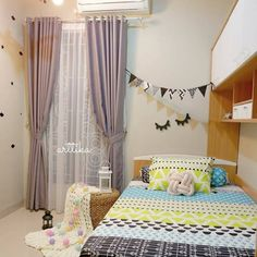 rumah minimalis Tiny Bedroom Design, Home Room Design, Kids Room Design, Interior Design Living Room, Diy Bedroom Decor For Teens, Indian Bedroom Decor, Cute Bedroom Decor, Minimalist Room, Aesthetic Bedroom