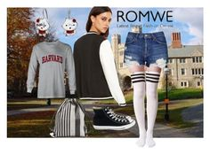 """Romwe: Jacket"" by kacenka-1 ❤ liked on Polyvore featuring Topshop, Converse, Proenza Schouler and Bling Jewelry"