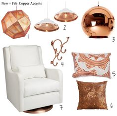 Love all the lights and copper fabric is an exciting way to add some copper.
