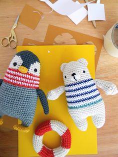 "Inspiration - Humboldt & Horacio Some of the new characters for my first book ""El Mundo de Pica Pau"" Crochet Amigurumi, Crochet Bear, Cute Crochet, Crochet Animals, Amigurumi Patterns, Crochet Crafts, Crochet Dolls, Yarn Crafts, Crochet Projects"