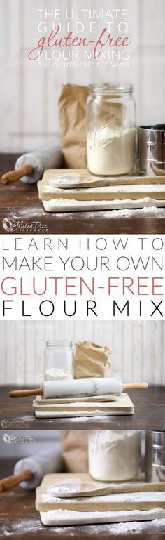 The ultimate guide to Gluten-Free flours, and a detailed step-by-step guide to making your own! Saves money and cuts additives. (Includes: all-purpose, self-rising, and cake flour gluten-free recipes...keep scrolling).
