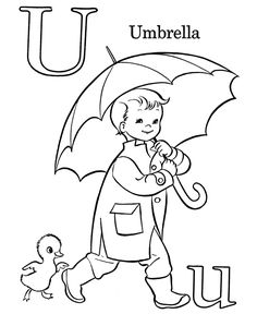 farm alphabet abc coloring page letter u - Toddler Coloring Page