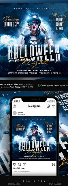Halloween Flyer by Redsanity | GraphicRiver
