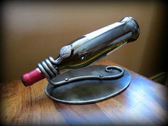 WINE RACK Hand Forged by Blacksmith Naz by NazForge on Etsy, $75.00