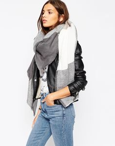 ASOS+Oversized+Square+Scarf+In+Oversized+Blown+Up+Check