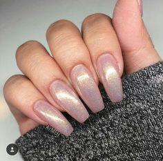 Mermaid fairy dust acrylic coffin nails