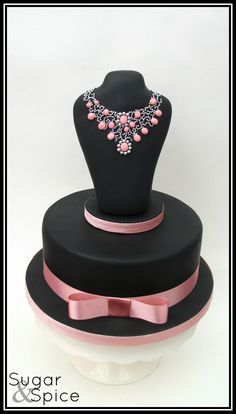 I love this cake! - A surprise birthday cake - chocolate mud with an RKT topper deco'd with fondant stones and dragees Girly Cakes, Fancy Cakes, Unique Cakes, Creative Cakes, Gorgeous Cakes, Amazing Cakes, Cupcakes Decorados, Decoration Patisserie, Bolo Cake