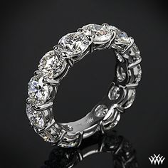 Set in platinum, this beauty shines with 12 A CUT ABOVE® Diamonds that total more than 6 carats!   -