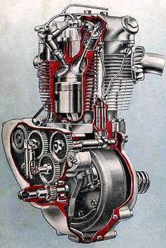 Triumph T100 engine cutaway
