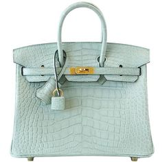 8111c7403af Guaranteed authentic Hermes Birkin 25 Bag rare Vert D Eau is nothing less  than translucent