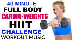 (DBL SKATERS --INTENSE )40 Minute Fat Burning, Total Body HIIT Workout with Dumbbells, Full Body...