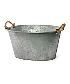 Look what I found on #zulily! Oval Tin Tub #zulilyfinds@tonjaamen