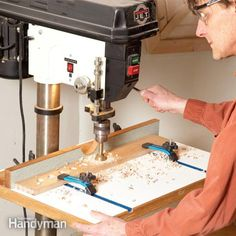 build this deluxe drill press table to simplify clamping woodworking projects and holding them steady while drilling. or build a simplified version of the same thing. either way you'll improve your drill press results.