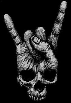 New skull finger, dark skull. Kunst Tattoos, Skull Tattoos, Tattoo Drawings, Art Drawings, Art Tattoos, Tattoo Crane, Totenkopf Tattoos, Skull Artwork, Tatoo