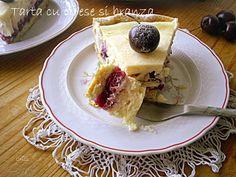 Arome si culori : Tarta cu cirese si crema de branza Cheesecakes, Desserts, Facebook, Pie, Tailgate Desserts, Deserts, Cheese Pies, Dessert, Cheesecake