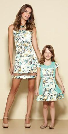 Vestidos maravilhosos mãe e filha