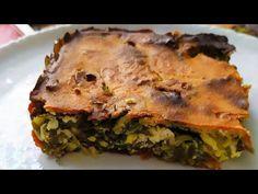Χορτοπιτα χωρίς φύλλο -Μπλατσαρα της Γκολφως, εύκολη μόνο σε 5 λεπτά. - YouTube Lasagna, Quiche, Baking, Breakfast, Ethnic Recipes, Youtube, Greek, Food, Recipies