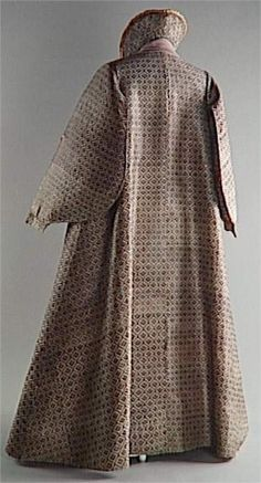 Extant Clothing - Woman's Coat (Zimarra). Circa last quarter 16th.C. to 1st. quarter 17th.C.