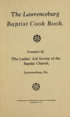 The Lawrenceburg Baptist cook book. Circa Vegetable Recipes on Page 65 Retro Recipes, Old Recipes, Vintage Recipes, Cookbook Recipes, Cooking Recipes, Family Recipes, 1950s Recipes, Cooking Tips, Recipies