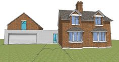 Just got planning approval for this large modern extension to the cottage. Cottage, Cabin, The Originals, Architecture, House Styles, Modern, Image, Design, Home Decor