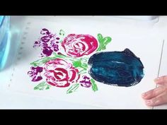 Fun with Watercolor Printing Effects with Gina Lee Kim PREVIEW - YouTube