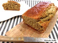 La recette healthy du banane bread sans lactose ni sucre raffiné. Un gâteau moelleux et fondant grâce aux bananes avec données nutritionnelles.