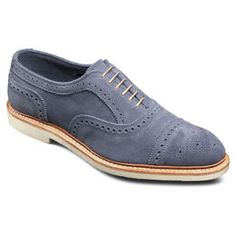 Strandmok 2.0 Suede Cap-toe Oxfords, 8246 Blue Suede, blockout