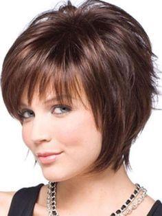 #short #layers #brunette