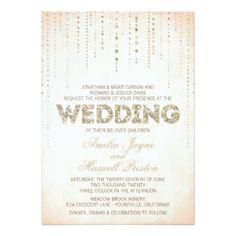 Peach & Gold Glitter Look Wedding Napkins 13 Cm X 18 Cm Invitation Card