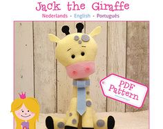 PDF Pattern Jack The Giraffe by SuperSkattig  https://www.etsy.com/nl/search?q=superskattig