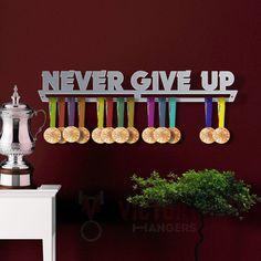 Sports Medal Holders Stainless Steel Medal Display by VictoryHangers The Best Gift For Champions ! VICTORY HANGERS Badminton Medal Hanger Display