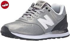 New Balance Damen 574 Laufschuhe, Mehrfarbig (Silver/Black 097Silver/Black 097), 43 EU - New balance schuhe (*Partner-Link)