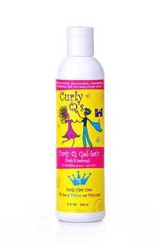 Curly Q Gel-les'c - Step 4 Style - For ALL CURLY HAIR TYPES looking for hold. It isn't a gel, and not quite a serum it's Curl Gel-les'c (pronounced Curl Jealousy). This botanically based, organic curl styler imparts brilliant sheen, banishes frizz, and holds those twirls in place! Transform dry frizzy locks into the enviable curls that every girl dreams of, with Curly Q Gel-les'c! Price: $18.00
