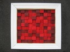 wood block wall art you can make at home.