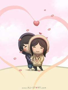 Check out the comic HJ-Story :: Couple Hoodies Hj Story, Cute Love Stories, Love Story, Love Is, True Love, Anime Chibi, Desenhos Love, Cartoons Love, Couple Cartoon