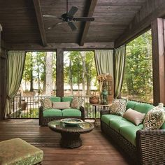 Patio Ideas, Backyard Ideas, Lanai, Screened In Porch, Country Farmhouse,  Sunroom, Garden Landscaping, House Ideas, New Homes, Creative Art, Balcony,  ...