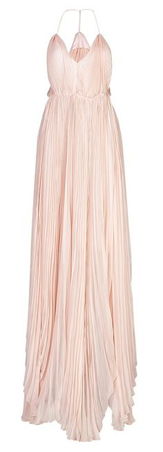 Blush pleated gown - jyes jyes i like jyes Beautiful Gowns, Swagg, Dress Me Up, Pretty Dresses, Costume, Dress To Impress, Evening Gowns, Bridesmaid Dresses, Outfits